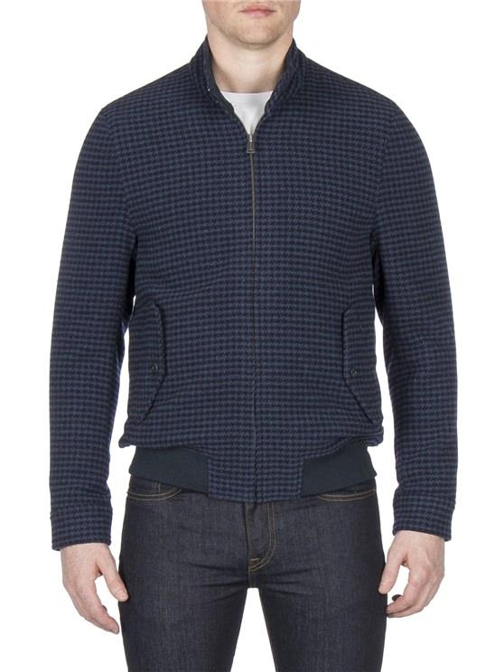 Navy Blouson Jacket | Wool Bomber Jacket
