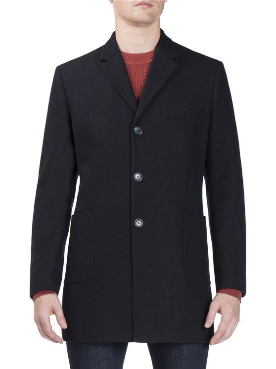 Covert Coat Navy