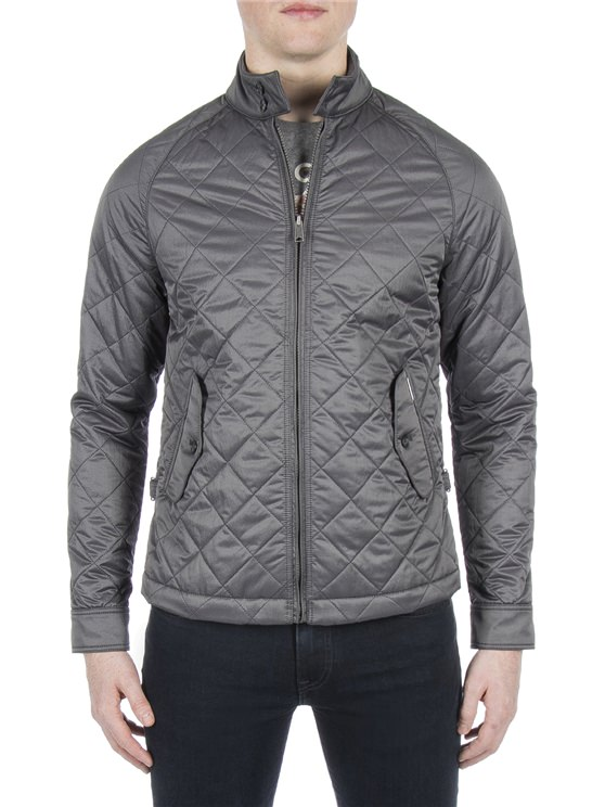 Grey Diamond Quilted Jacket