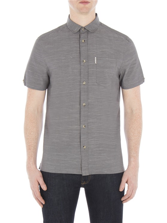Short Sleeve End on End Slub Shirt