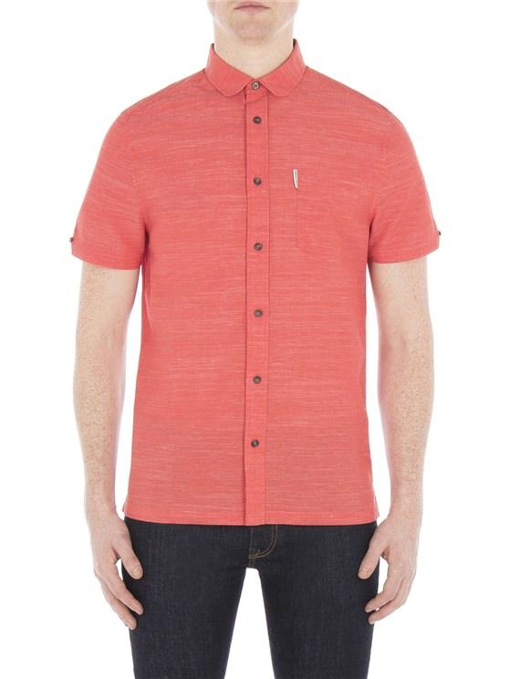 Short Sleeve End on End Slub Shirt