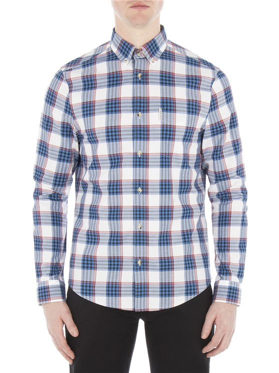 Long Sleeve Crepe Gingham Check Shirt