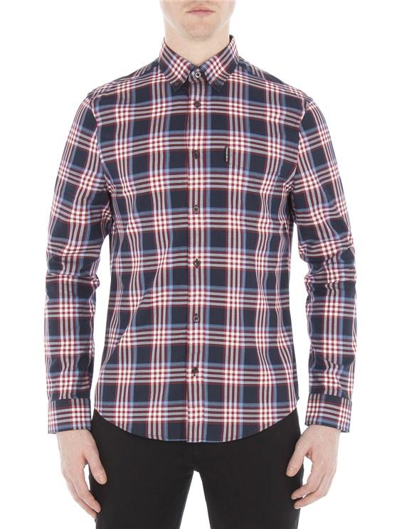 Long Sleeve Crepe Gingham Check Shirt