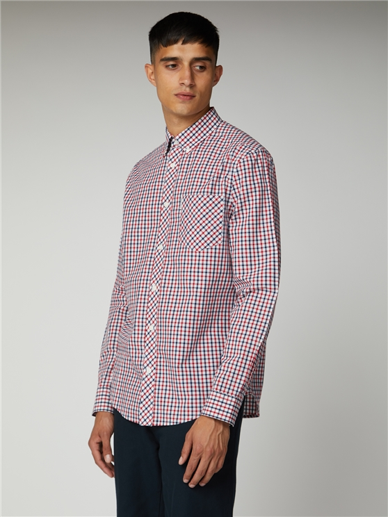 Blue Depths Long Sleeve House Check Shirt