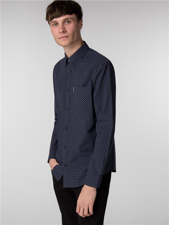 Phantom Long Sleeve Core Gingham Shirt