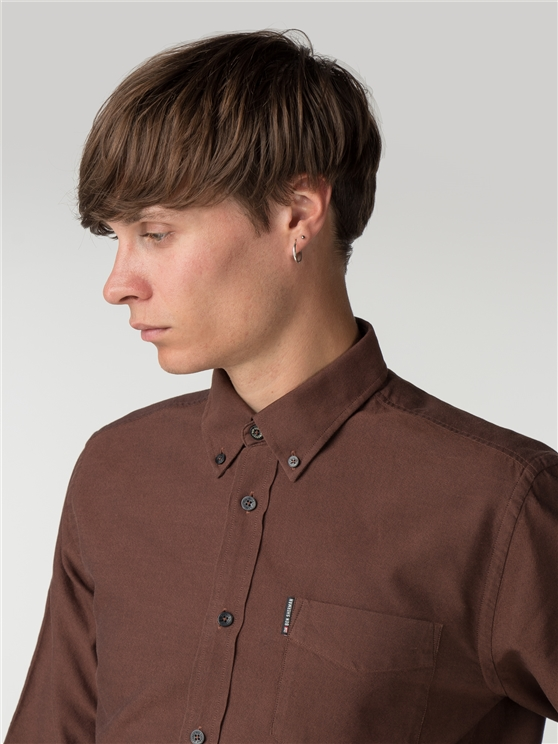 Long Sleeve Rust Oxford Shirt