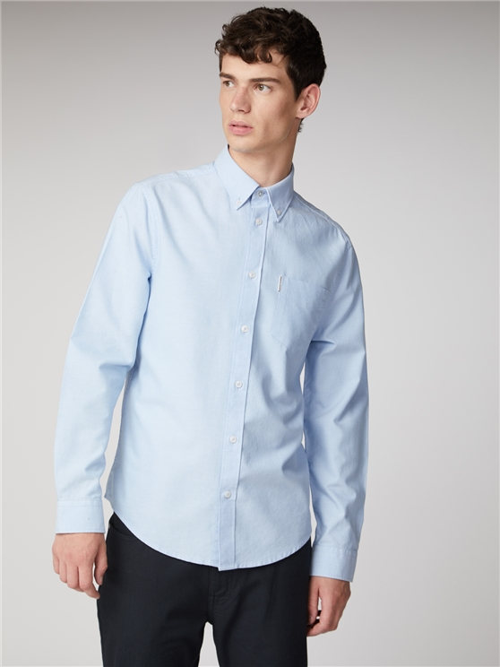 Long Sleeve Light Blue Oxford Shirt