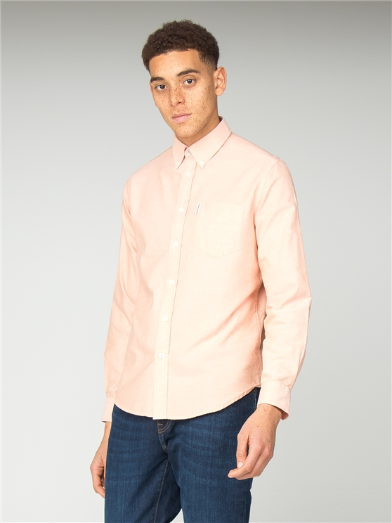 Long Sleeve Orange Oxford Shirt