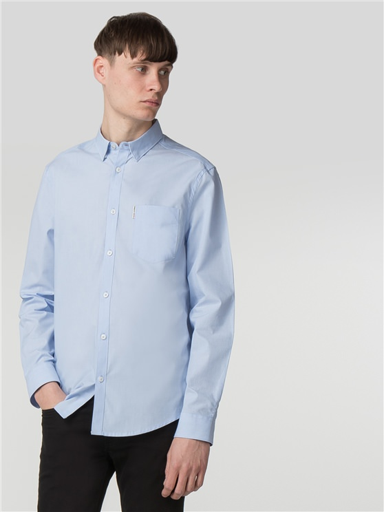 Cornflower Long Sleeve End on End Shirt