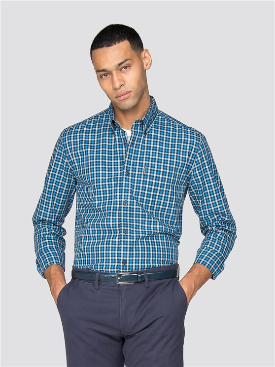 Marine Long Sleeve House Gingham Shirt