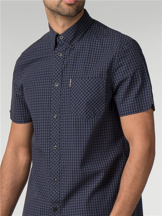 Short Sleeve Core Gingham Shirt
