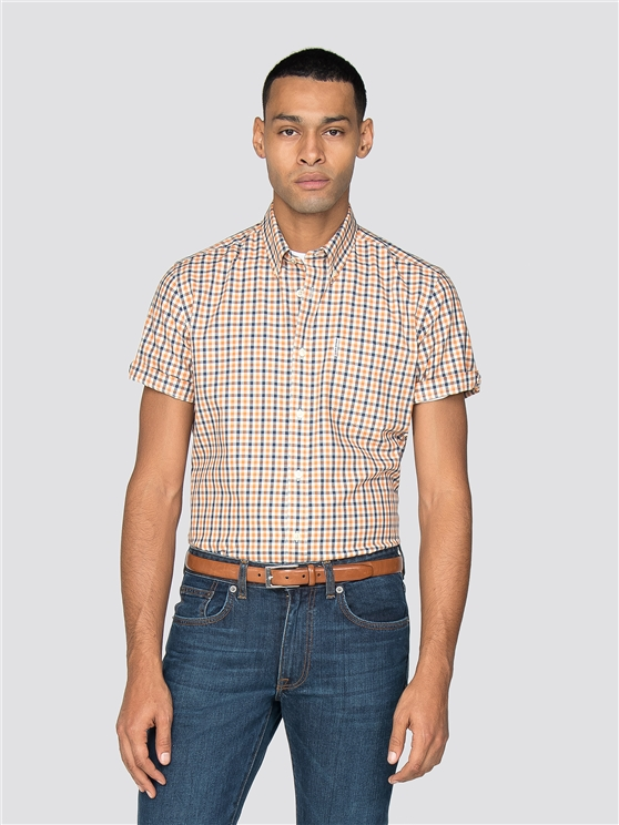 Short Sleeve House Gingham Shirt