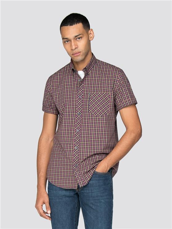 Short Sleeve House Gingham Shirt
