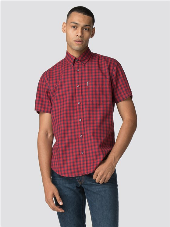 Red & Blue Short Sleeved House Gingham Shirt