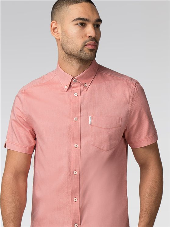 Short Sleeve Plain Oxford Shirt