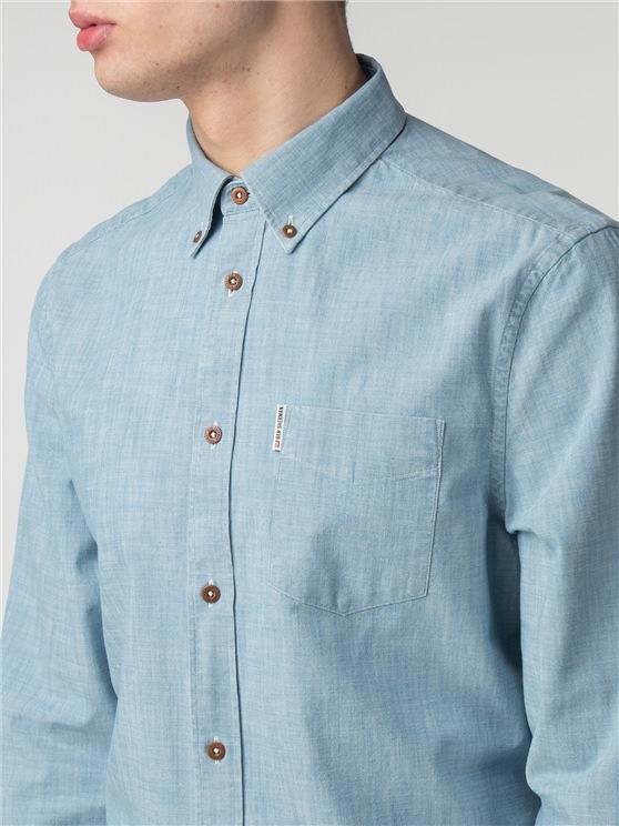Long Sleeve Chambray Shirt