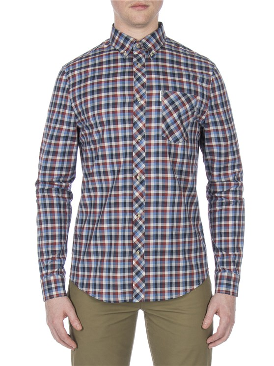 Long Sleeve Multicoloured Gingham Shirt