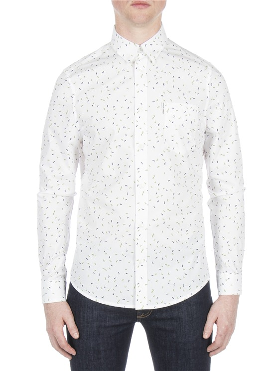 Long Sleeve Scattered Geo Shirt