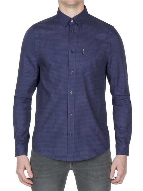 Long Sleeve Dogtooth Check Shirt