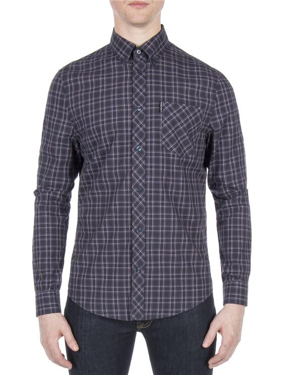 Long Sleeve Marl Tartan Shirt