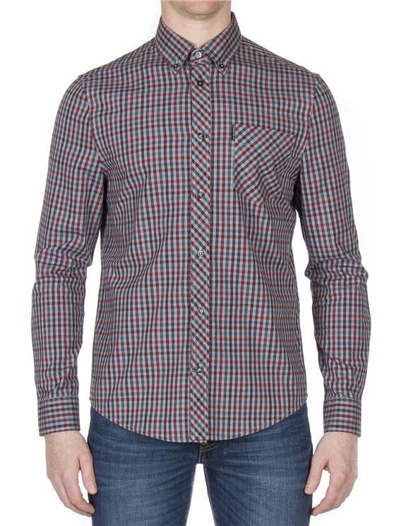 Long Sleeve Brushed Multicolour Gingham Shirt