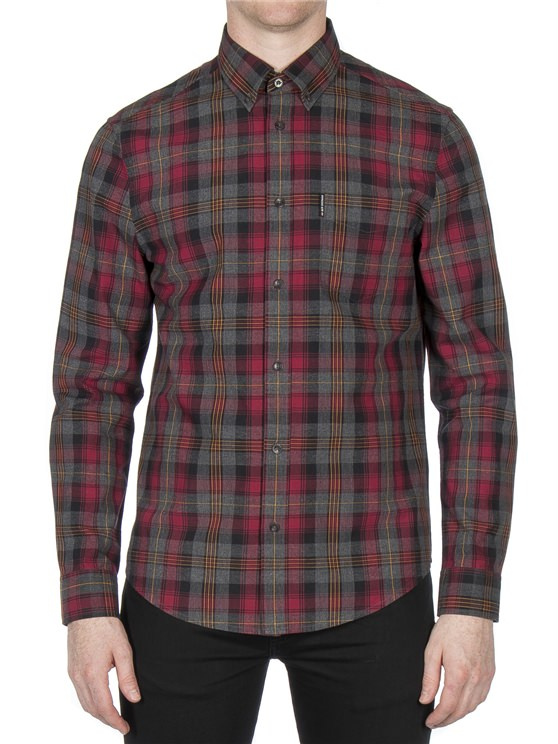Long Sleeve Herritage Marl Check Shirt- currently unavailable