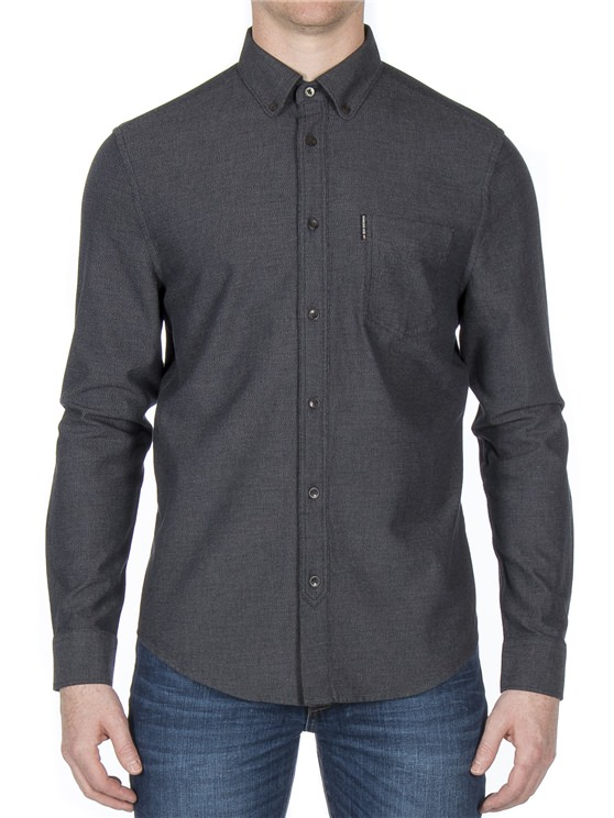 1562528f0e Long Sleeve Brushed Plain Shirt