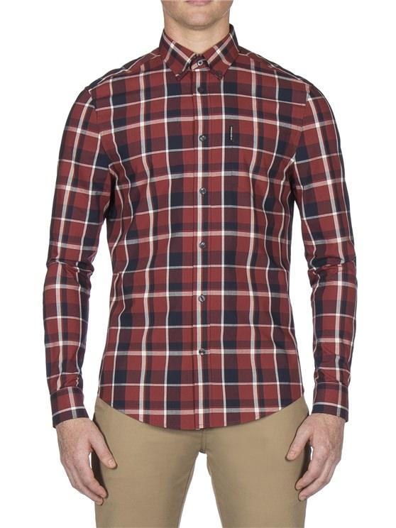 Long Sleeve Poplin Check Shirt