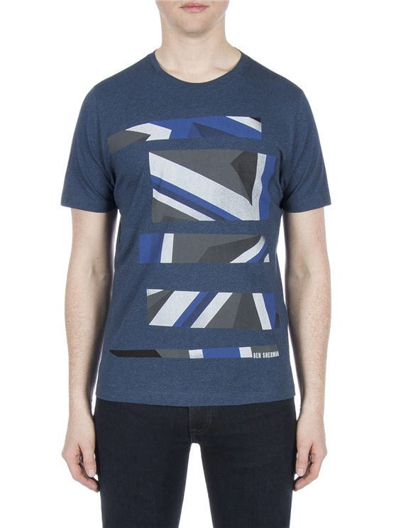 UNION JACK STRIPE PRINT TEE