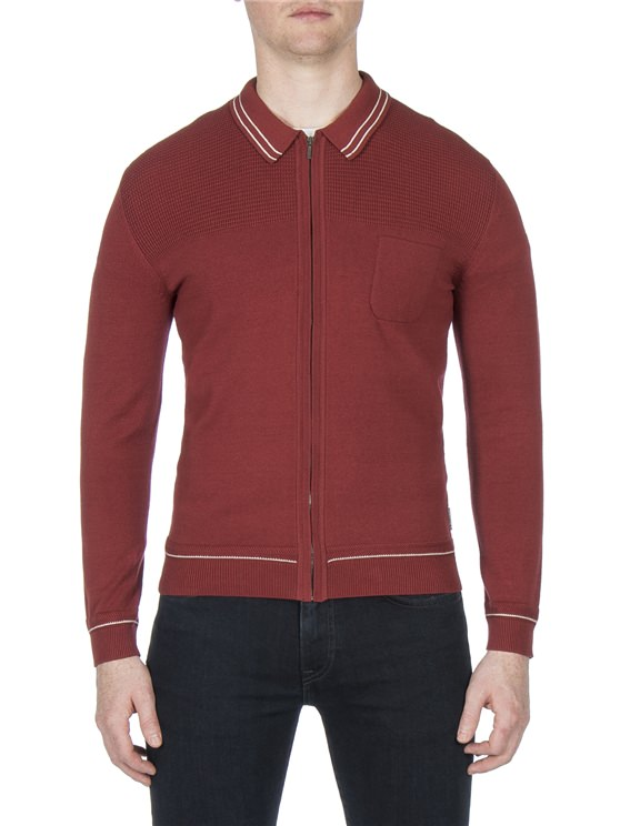 TIPPED ZIP COLLAR MILANO JACKET