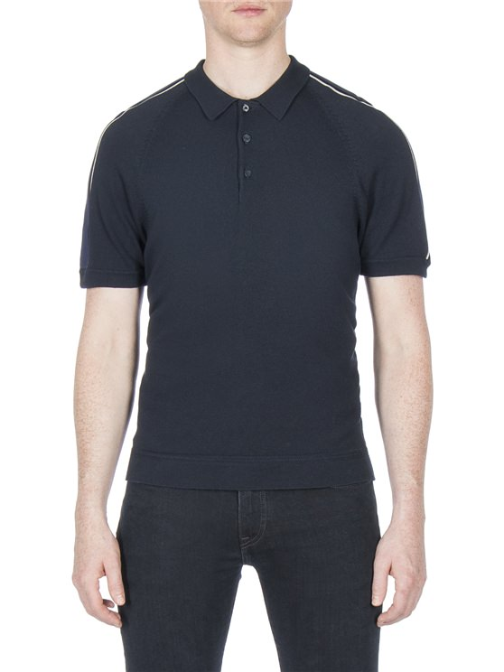 PIPED OVERARM CONCEALED PLACKET POLO