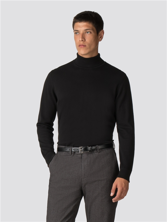 FINE GAUGE ROLL NECK