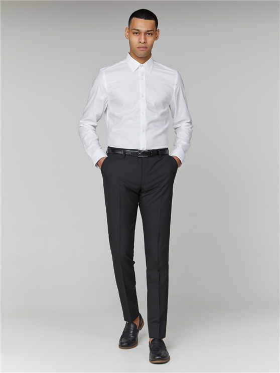 White Long Sleeve Oxford Formal Shirt