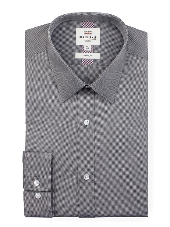 Long Sleeve Plain Oxford Formal Shirt