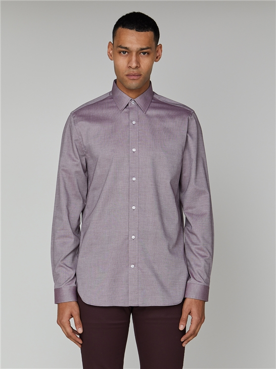 Long Sleeve Plain Oxford Formal Shirt