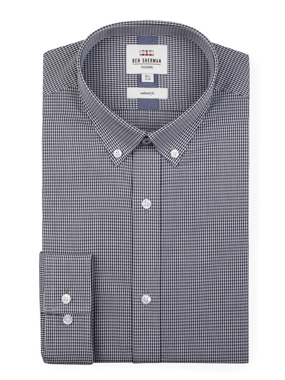 Long Sleeve Gingham Formal Shirt