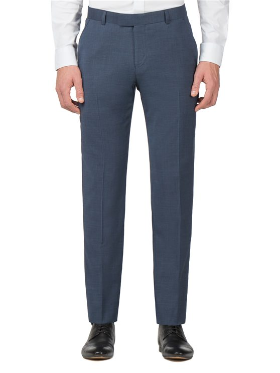 Blue Textured Tonic Camden Fit Trouser- currently unavailable