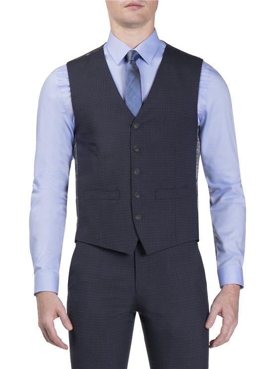 Peacoat Semi Plain Camden Fit Waistcoat