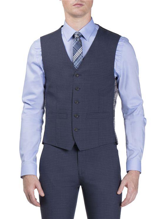 Airforce Semi Plain Camden Fit Waistcoat