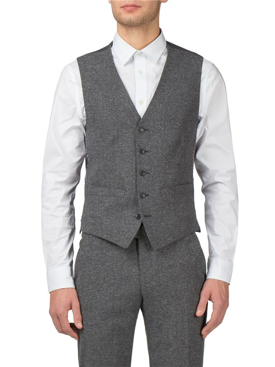 Grey Speckle Camden Fit Waistcoat- currently unavailable