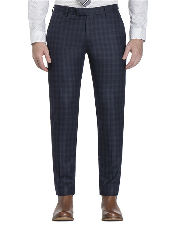 Peacoat Flannel Check Camden Fit Trouser