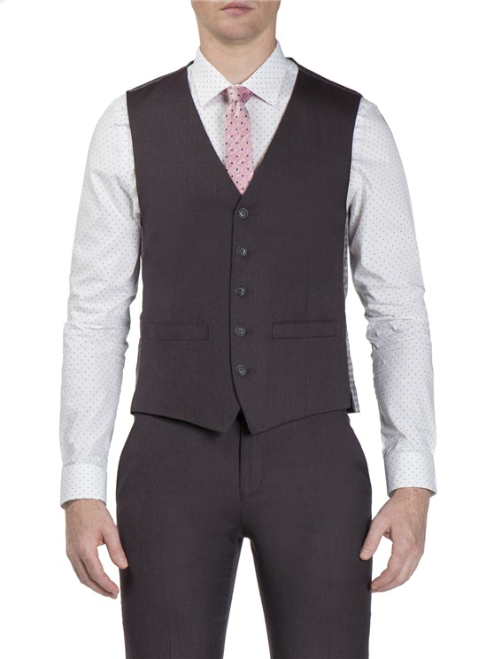 Vintage Claret Flannel Camden Fit Waistcoat- currently unavailable