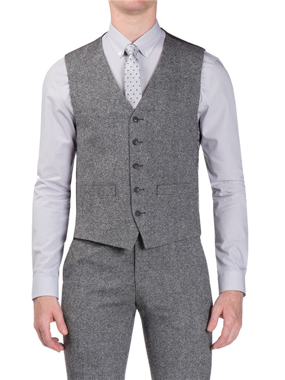 Smoked Grey Donegal Camden Fit Waistcoat- currently unavailable