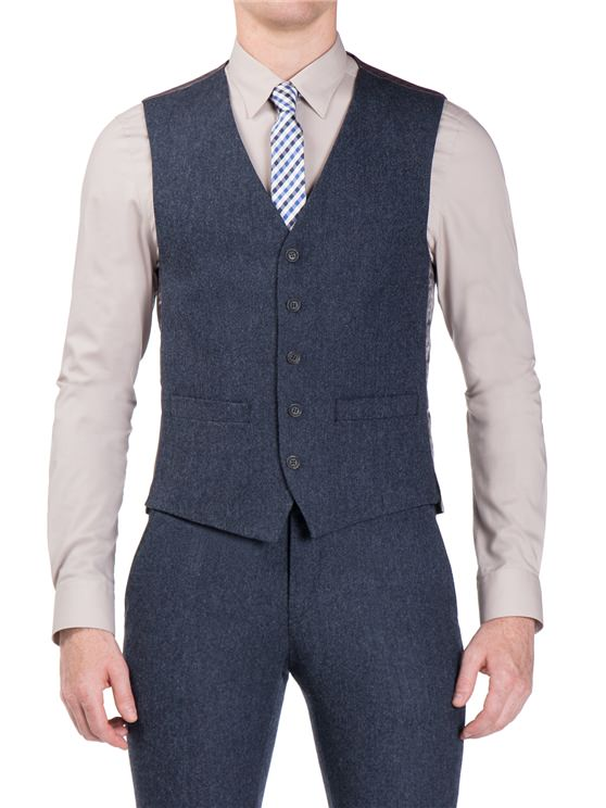 Winter Blue Donegal Camden Fit Waistcoat- currently unavailable