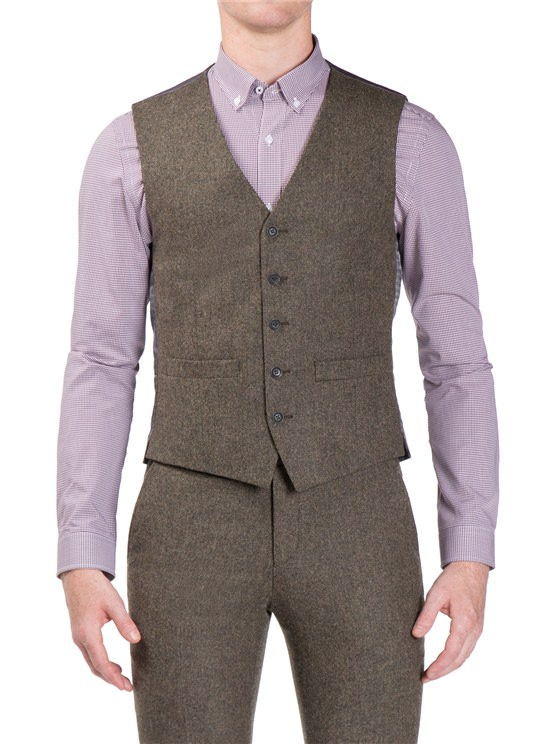 Forest Green Donegal Camden Fit Waistcoat- currently unavailable