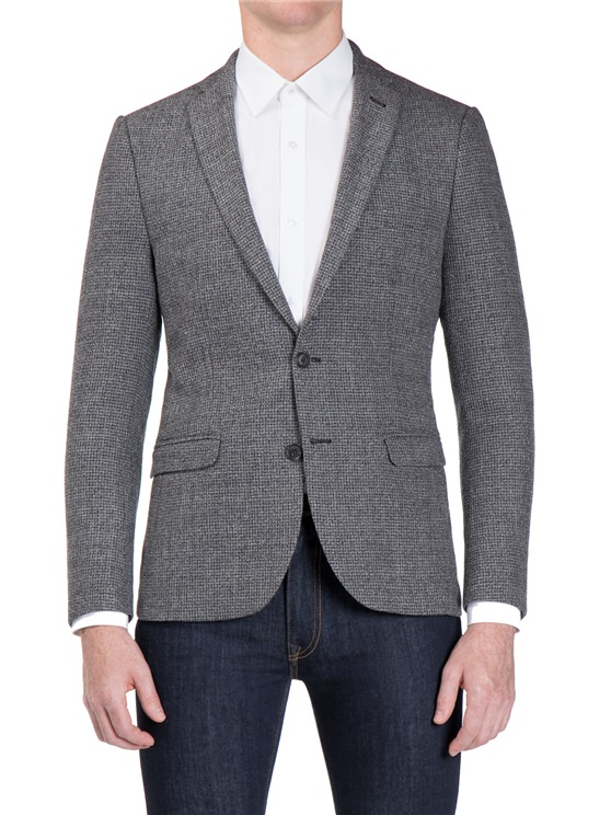 Salt and Pepper Boucle Camden Fit Jacket