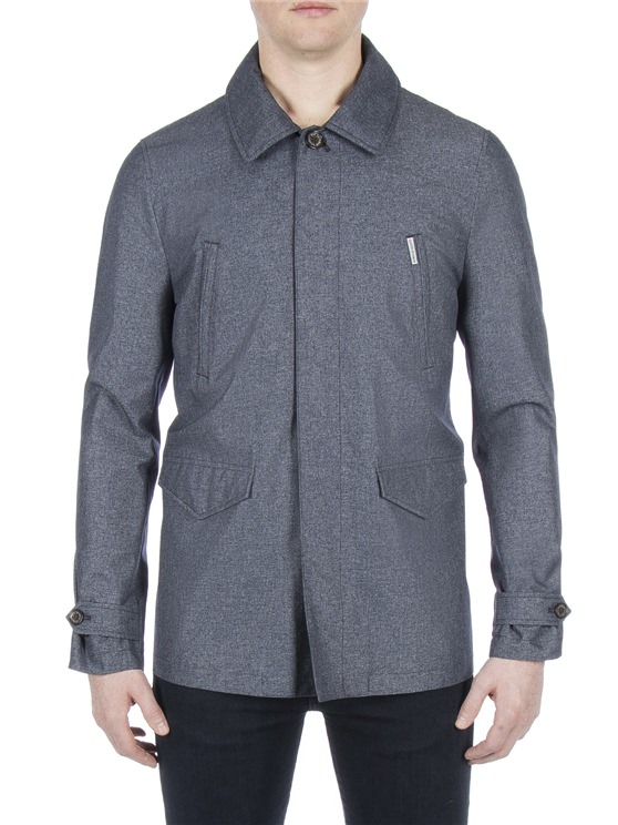 Mens Grey Mac | Smart Mac