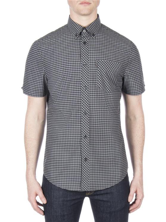 Short Sleeve Brushed Gingham Shirt