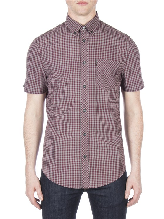 Short Sleeve Core Brushed Gingham