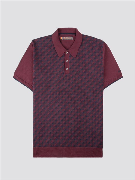 MICRO GEO KNITTED POLO- currently unavailable